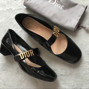 Dior Baby-D Patent Calfskin Ballet Pump Black 36.5
